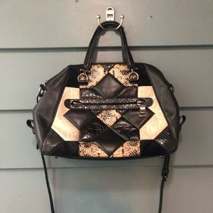 Coach Black & White Patchwork Bag